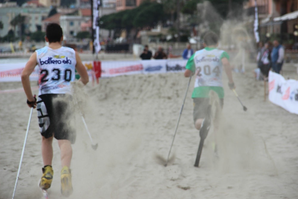 Sci di fondo on the Beach, Laigueglia 2014