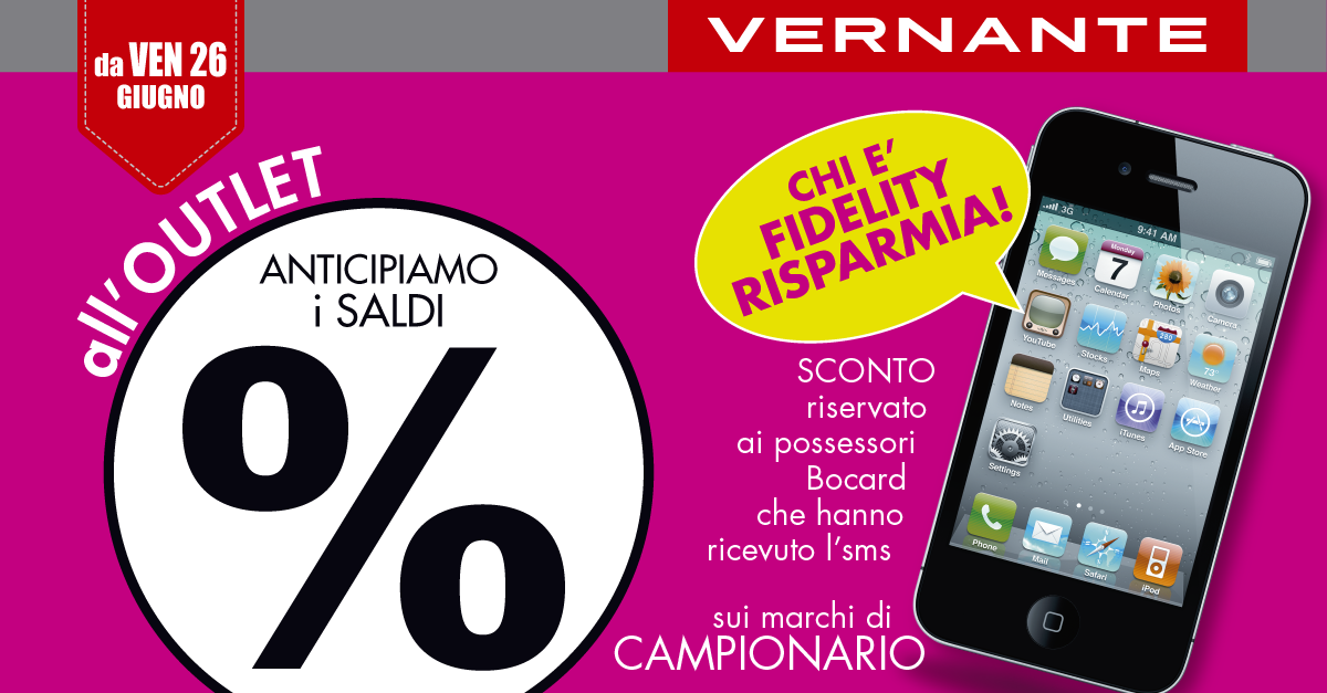 All'outlet di Vernante anticipiamo i saldi!