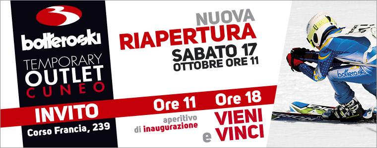Apre il temporary store Botteroski di Cuneo: vieni e vinci!
