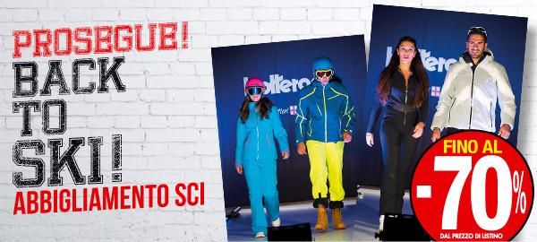 All'outlet di Vernante si fa il bis: prosegue la promozione -70% sull'abbigliamento sci