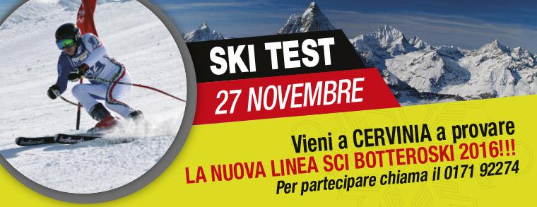 Ski Test: il 27 novembre scopri la nuova linea sci BotteroSki