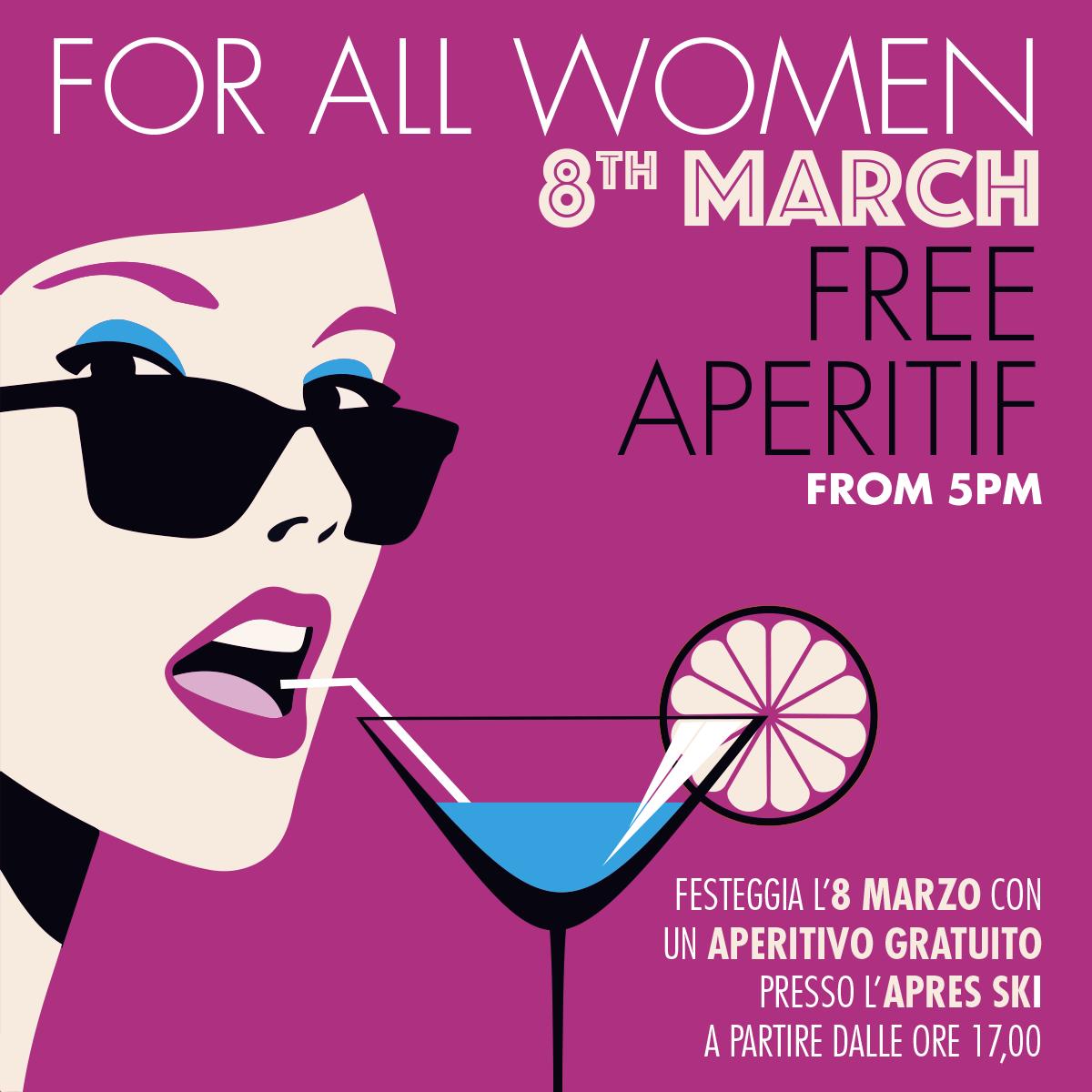 Festa della Donna: aperitivo gratis all'Après Ski