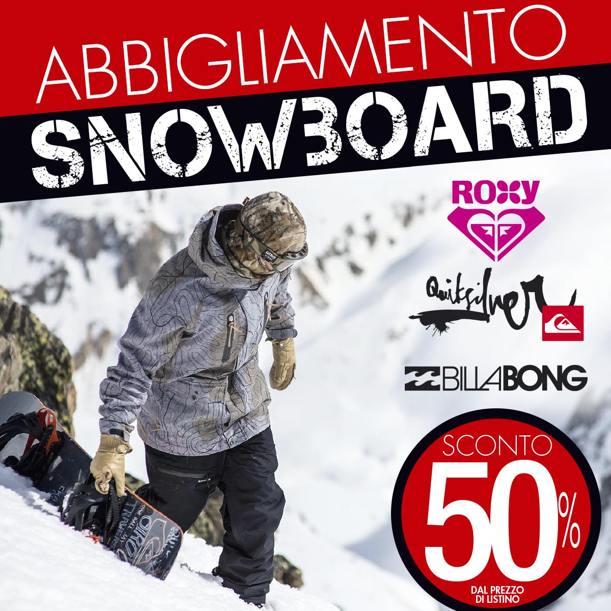 Abbigliamento snowboard: negli outlet BotteroSki sconto del 50%