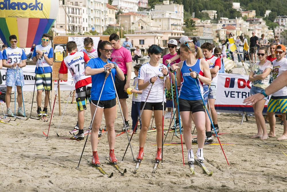 le campionesse della 7° edizione di Sci di fondo on the beach