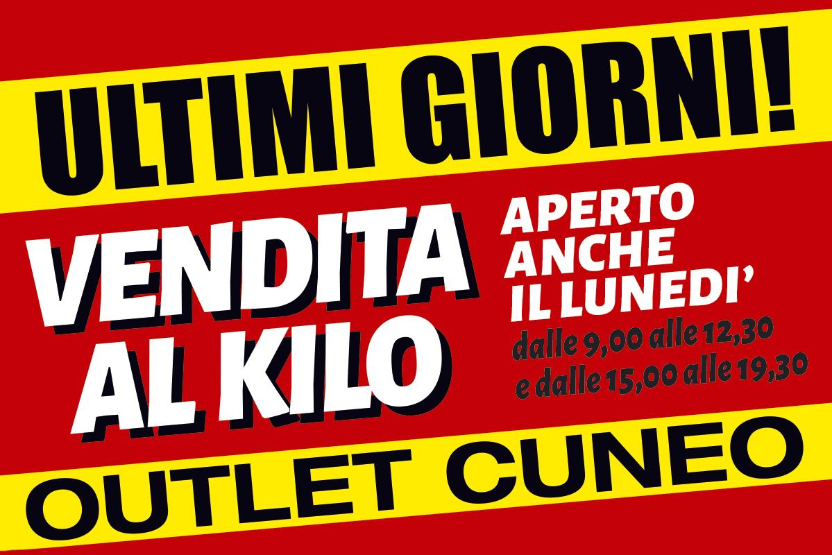 Vendita al chilo: ultimi giorni all'outlet di Cuneo