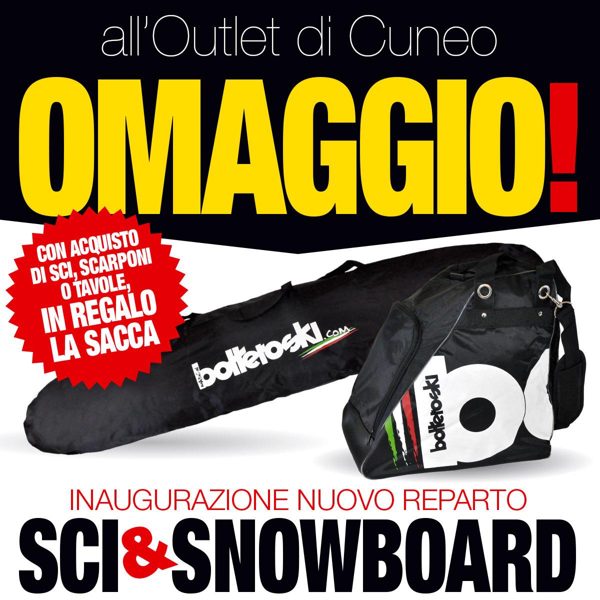 All'outlet di Cuneo fino al 6 ottobre in omaggio la sacca sci