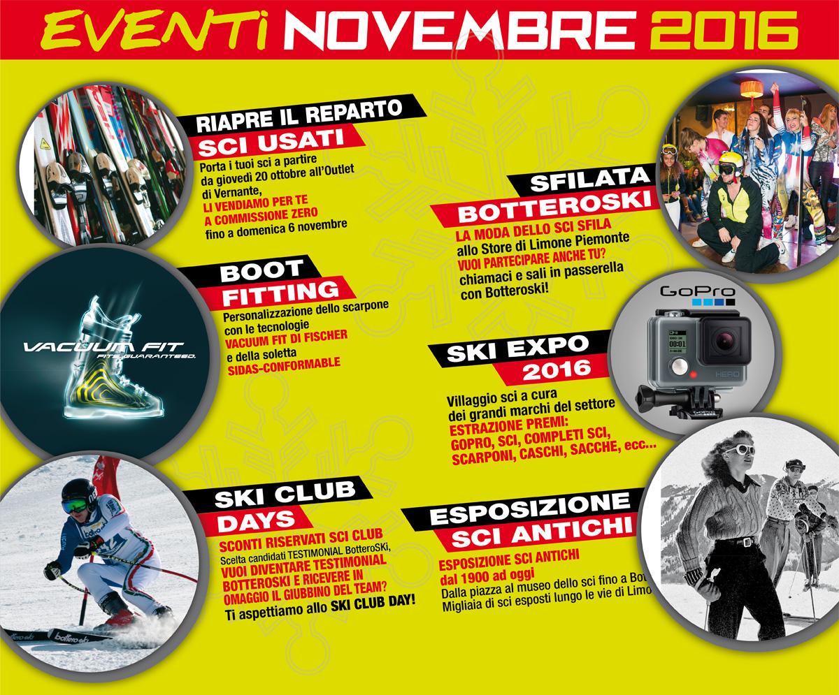 Novembre 2016: un ricco calendario di appuntamenti con BotteroSki