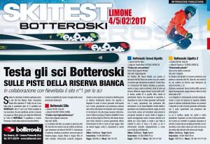 SKI TEST BOTTERO Ski redazionale LA STAMPA 02-02-2017