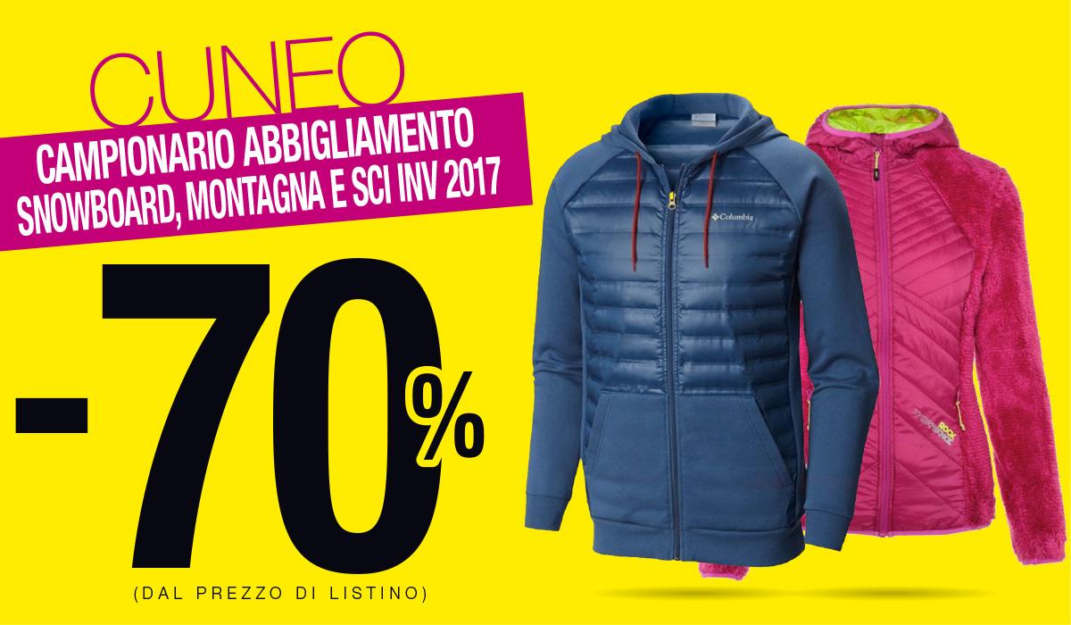 All'outlet di Cuneo campionari scontati del 70%!