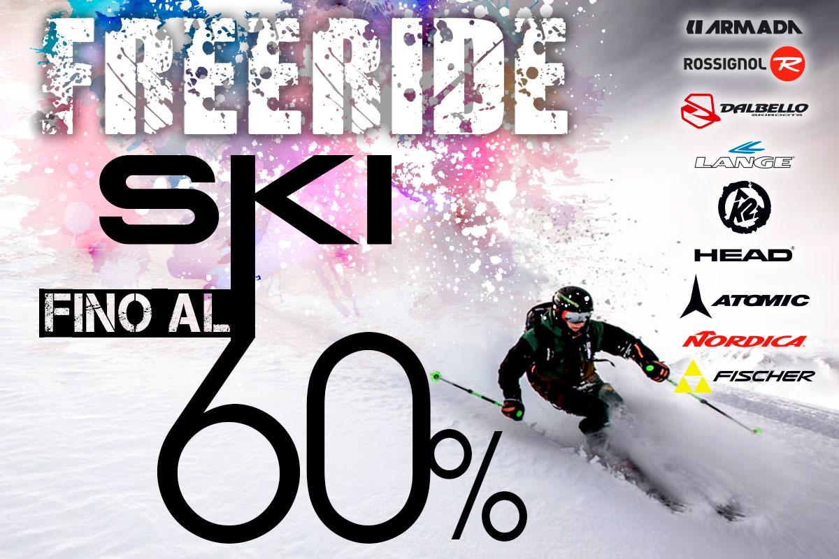 Sci freeride: da Bottero Ski lo sconto arriva al 60%