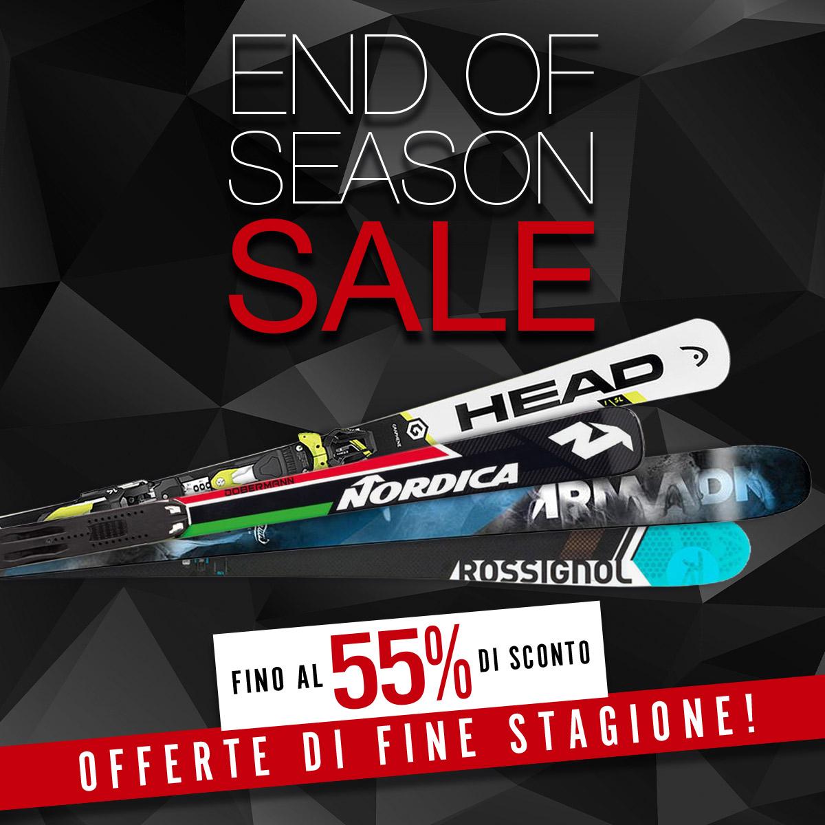 Offerte di fine stagione: fino al 55% di sconto sugli sci!