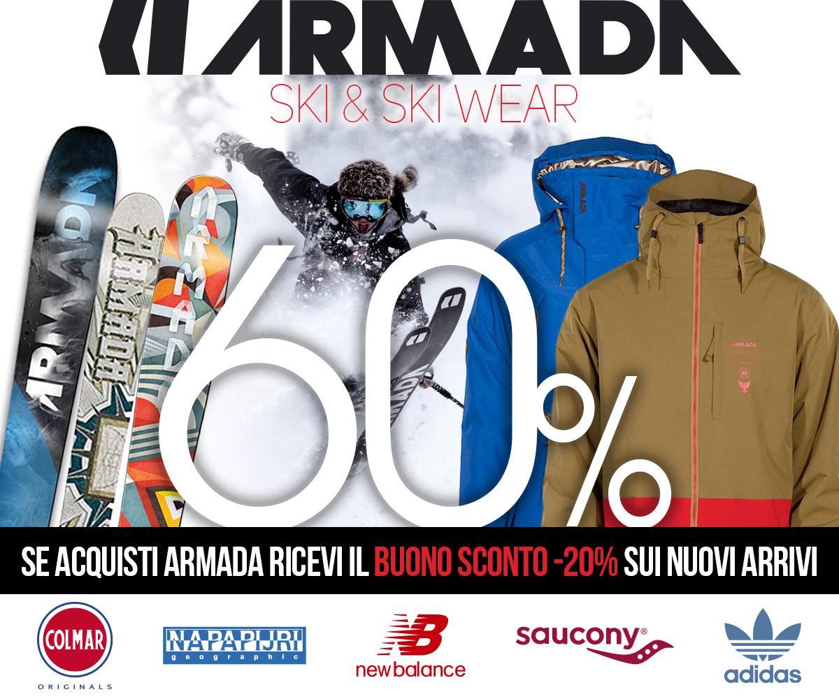 Con Armada lo sconto è doppio: per te il 20% sui nuovi arrivi primavera 2017