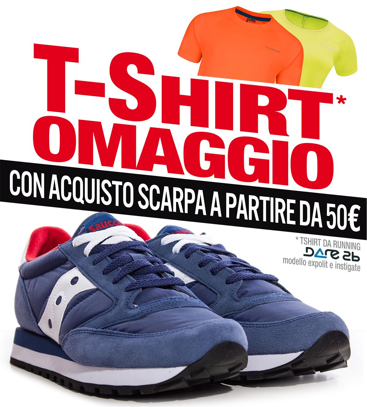 Tu compri le scarpe e noi ti regaliamo la t-shirt!
