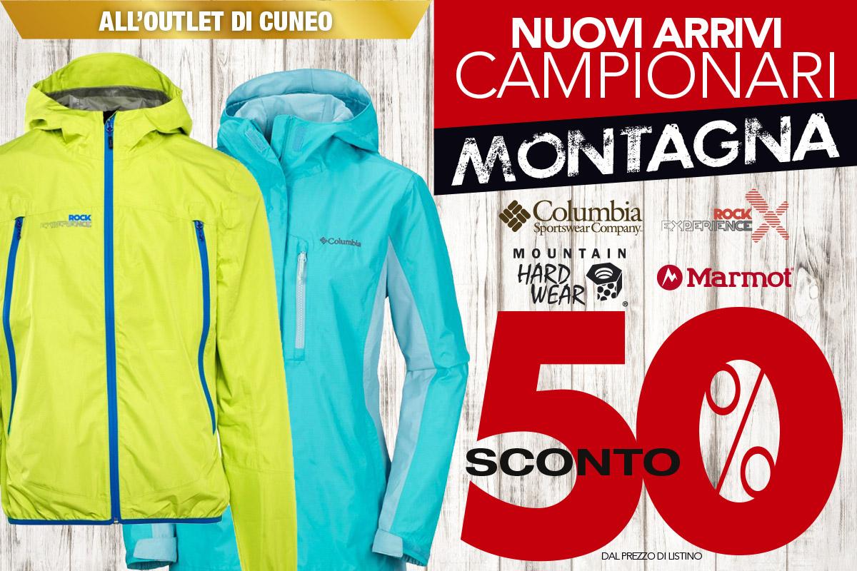 Nuovi arrivi montagna all'outlet di Cuneo: sconto del 50%