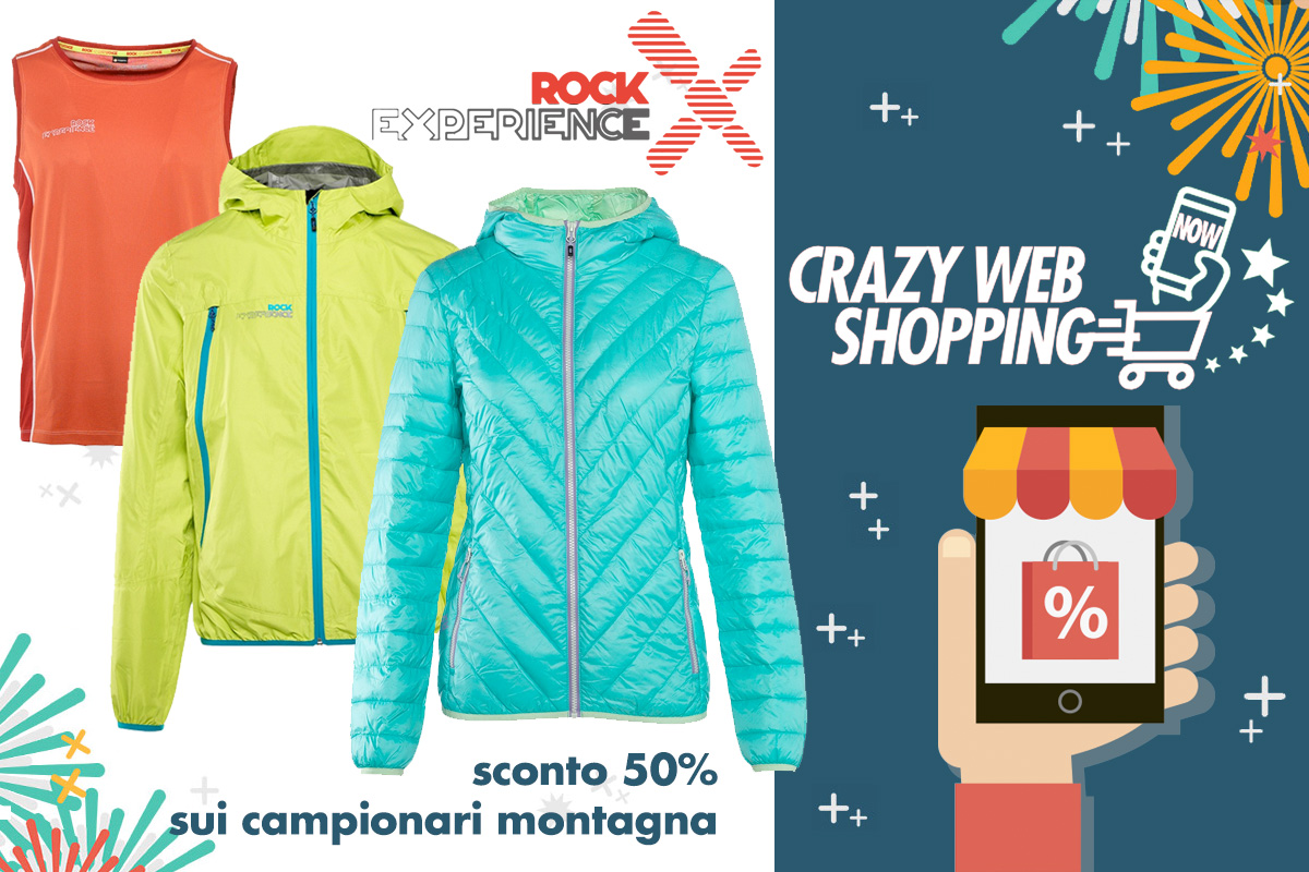 crazy web shopping banner rock experience