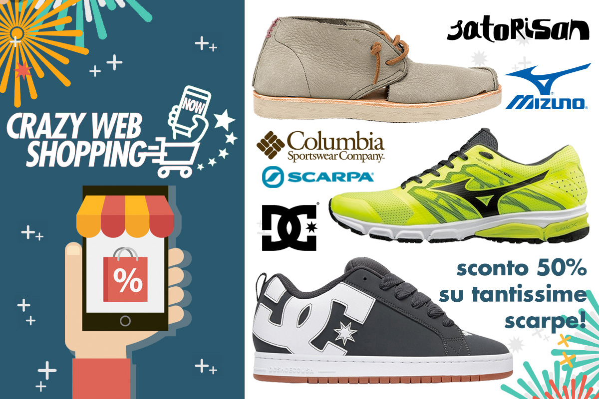 crazy web shopping banner scarpe