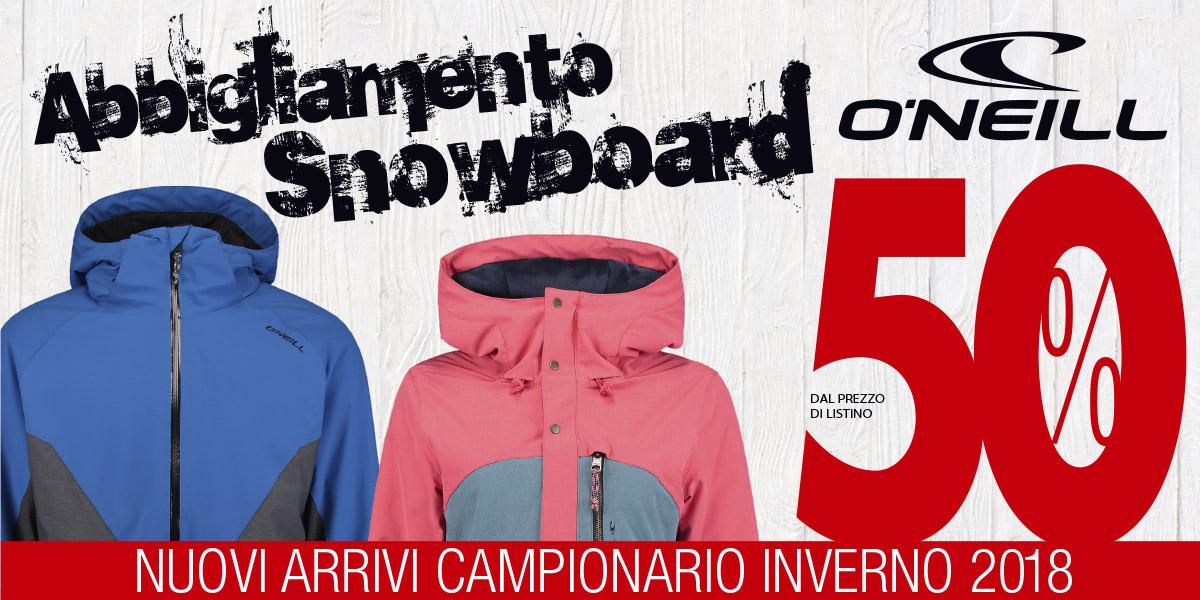 outlet cuneo abbigliamento snowboard Oneil sconto 50