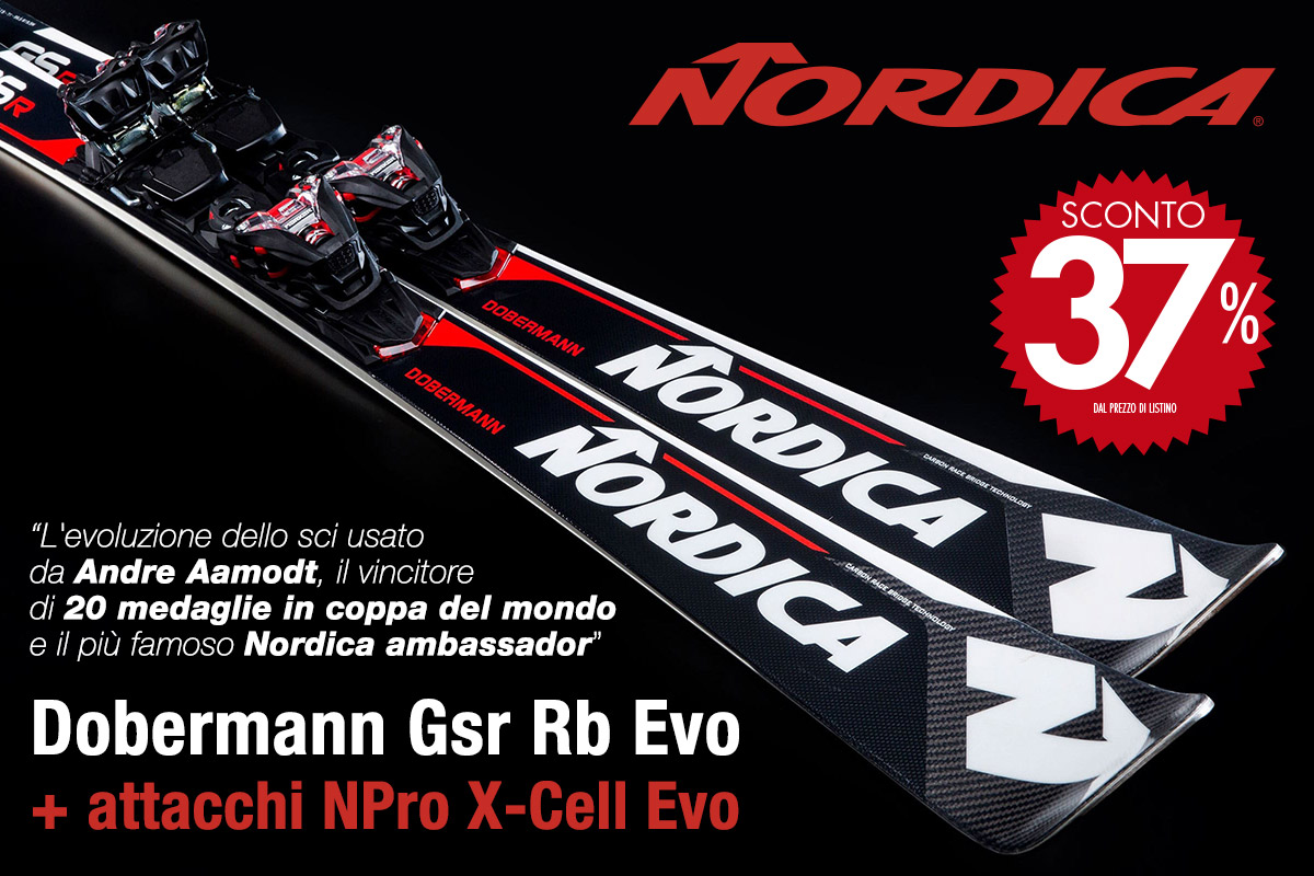 Scopri gli incredibili sci Nordica Dobermann Gsr Rb Evo