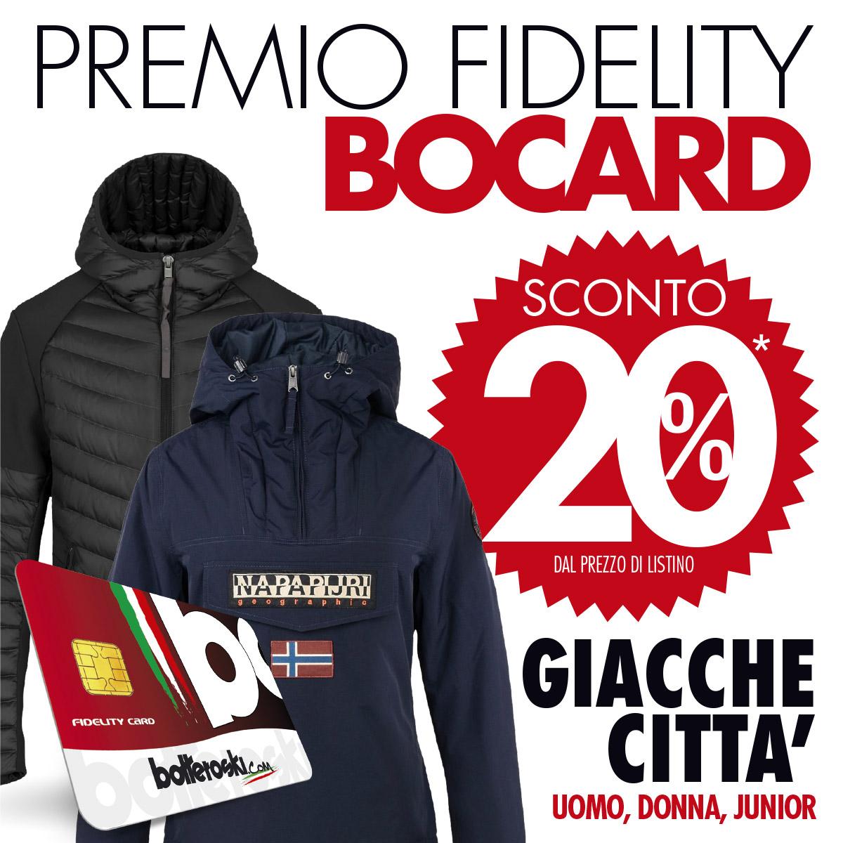 Premio Fidelity Bocard: -20% sulle giacche