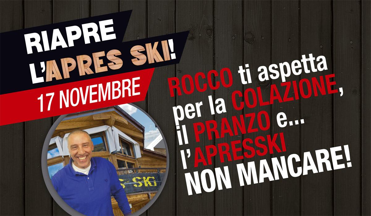 Riapre l'Après Ski: vi aspettiamo il 17 novembre