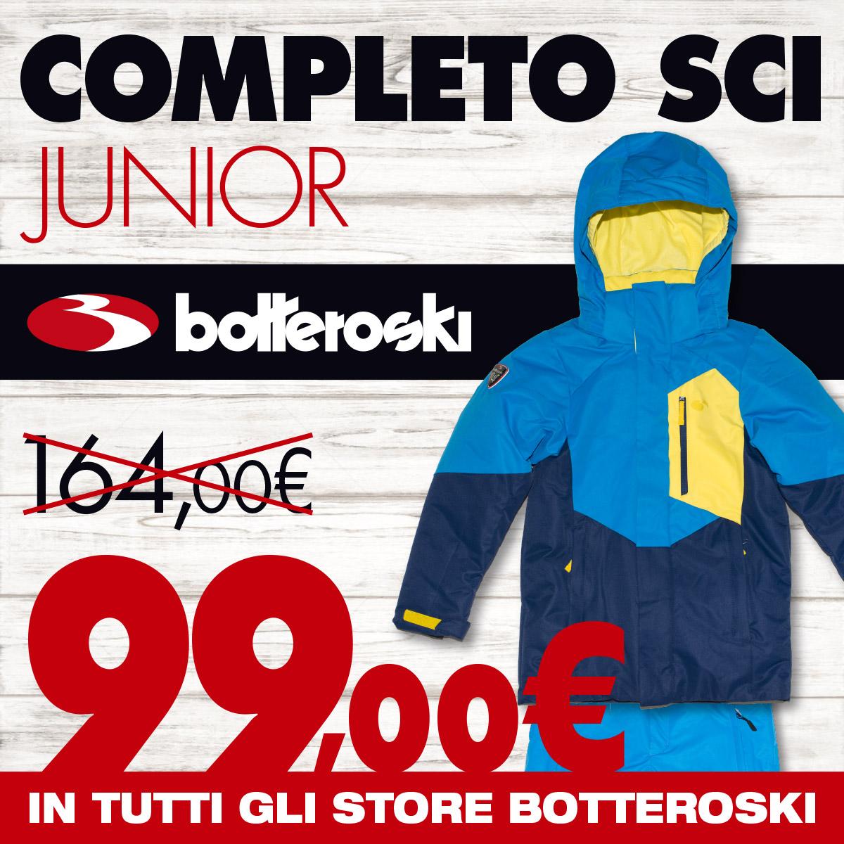 Promo completi sci Bottero Ski junior 99 euro