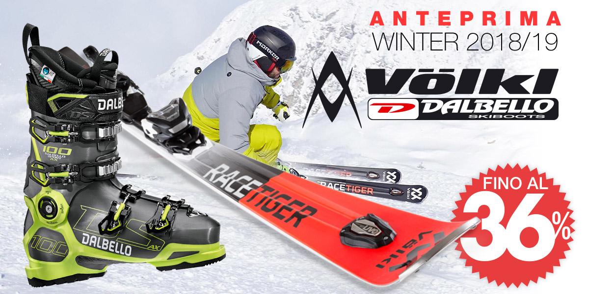 Nuovi arrivi sci Volkl e scarponi Dalbello Winter 2018/19