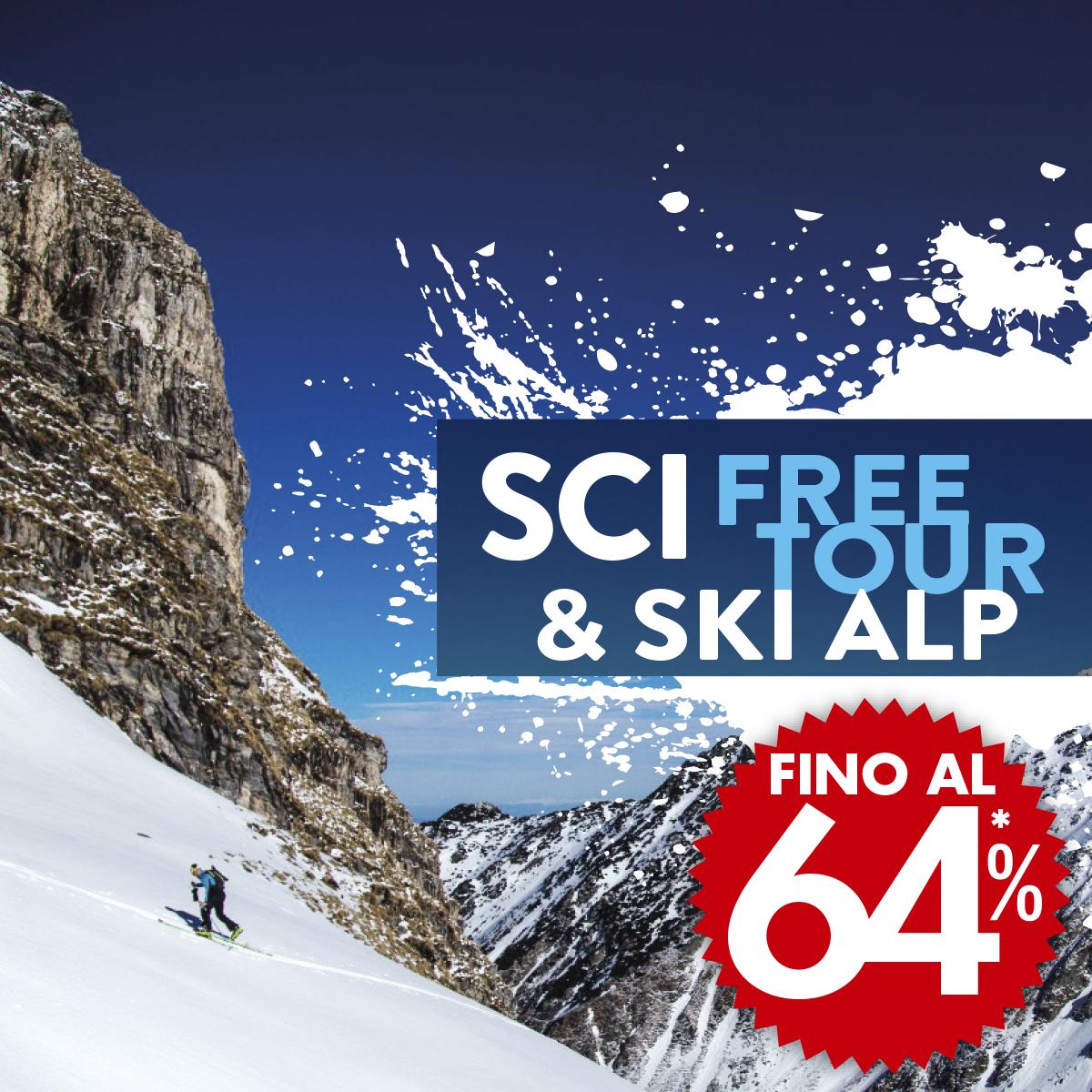 Sci free tour e ski alp: da Bottero Ski trovi le ultime novità con sconti fino al 64%