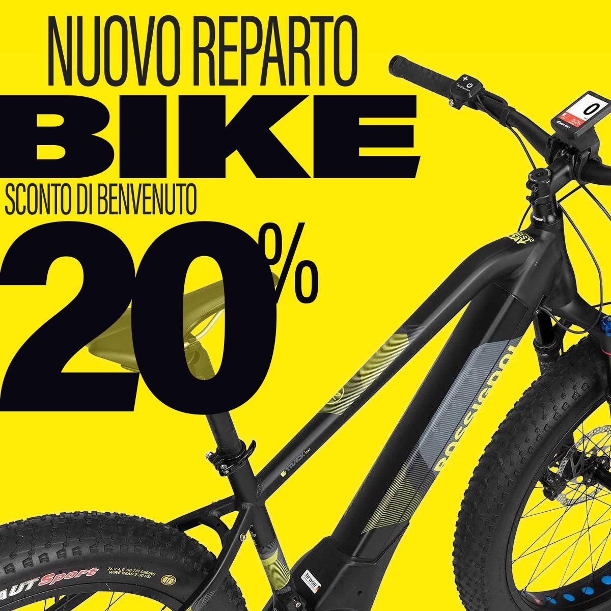 Reparto e-bike Borgo 2000: sconto di benvenuto al nuovo nato!