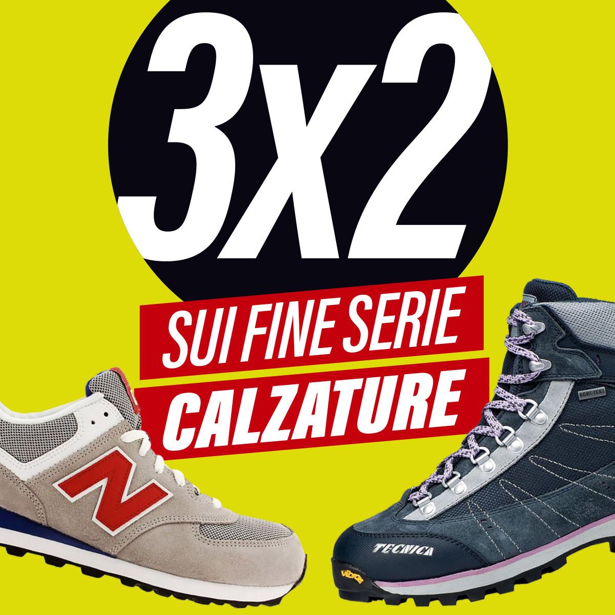 A Vernante c'è il 3×2 sui fine serie calzature