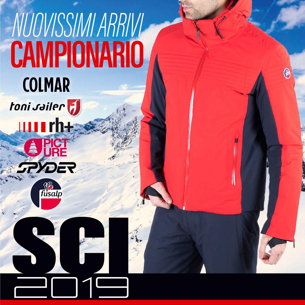 campionari abbigliamento sci 2019