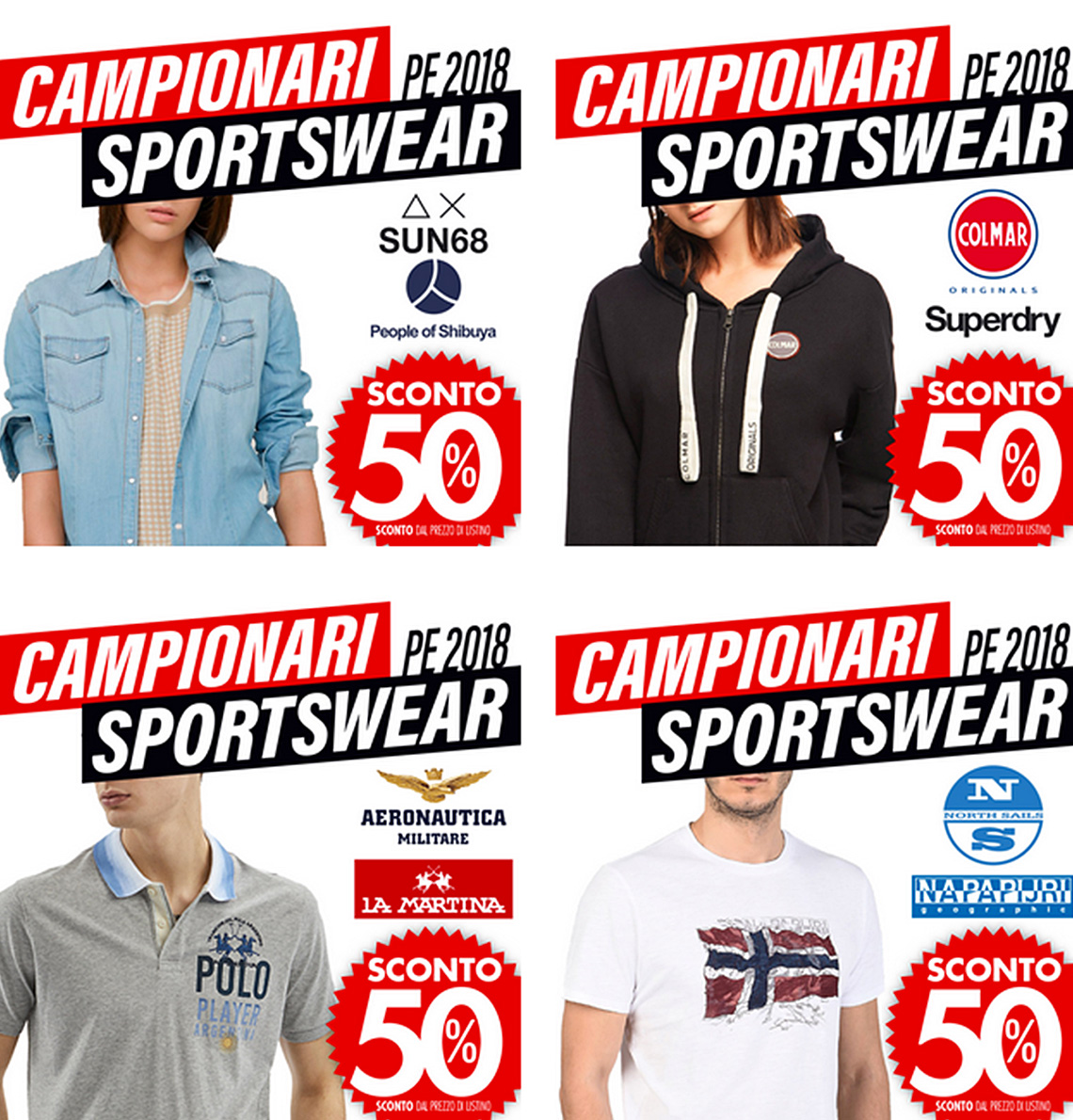 All'outlet di Vernante scopri i nuovi campionari sportswear primavera estate 2018