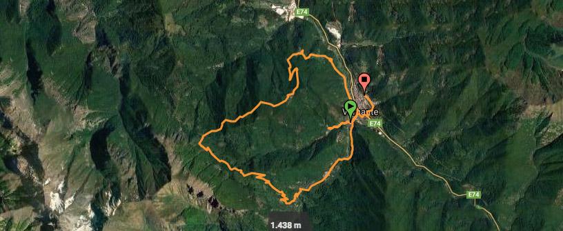 Cartina percorso test e-bike livello esperto