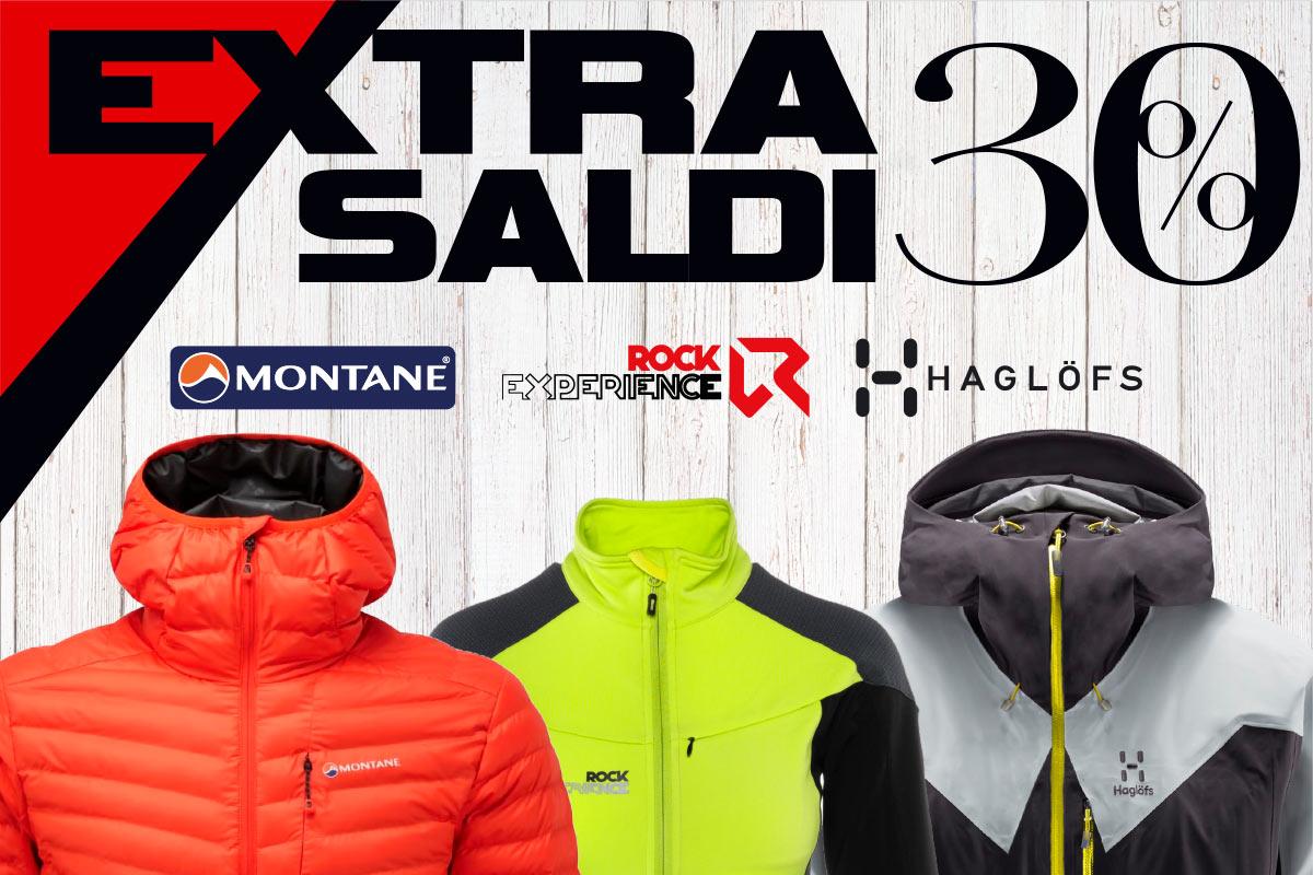 Extra saldi al 30% su abbigliamento sci e alpinismo