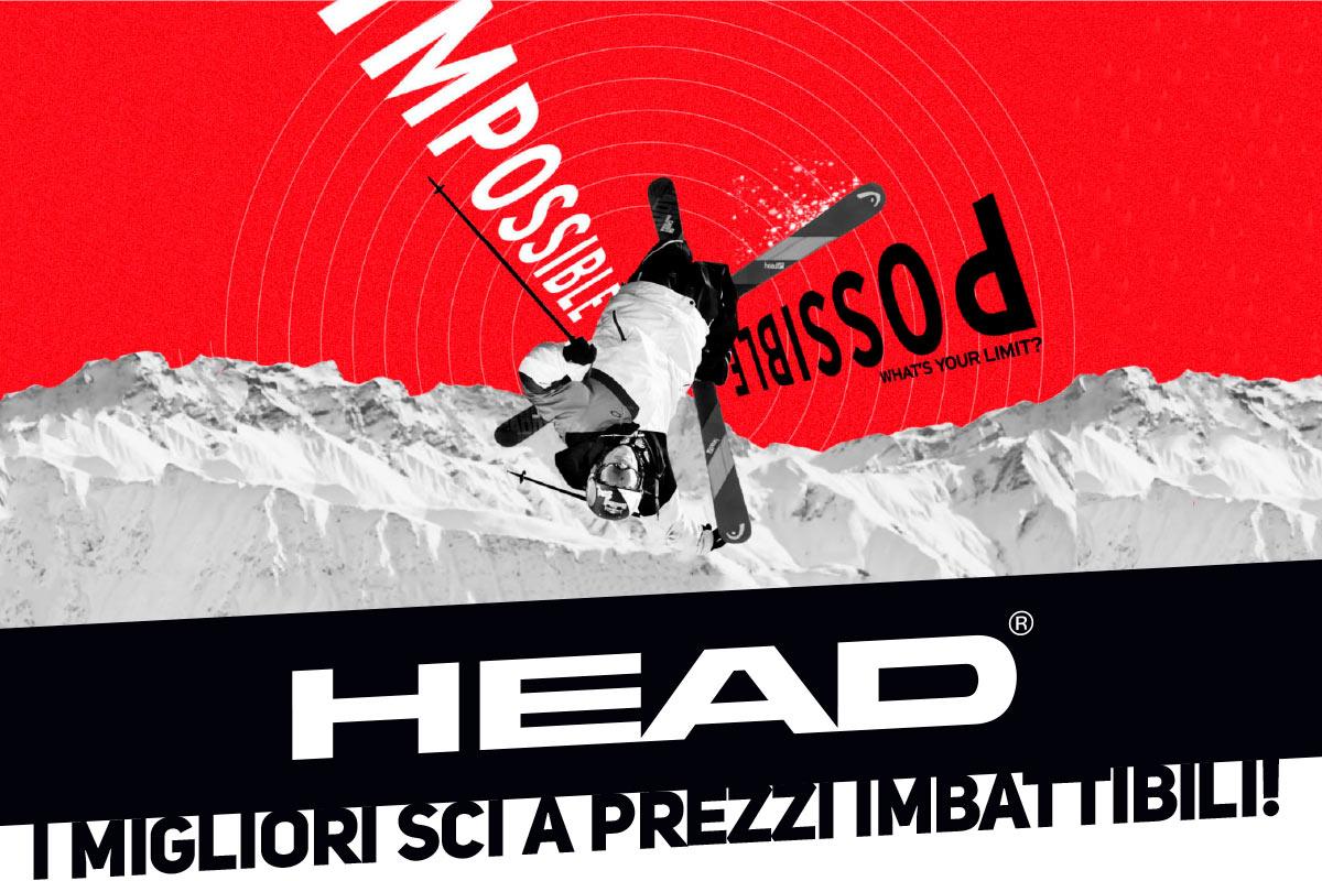 HEAD, i migliori sci a prezzi imbattibili