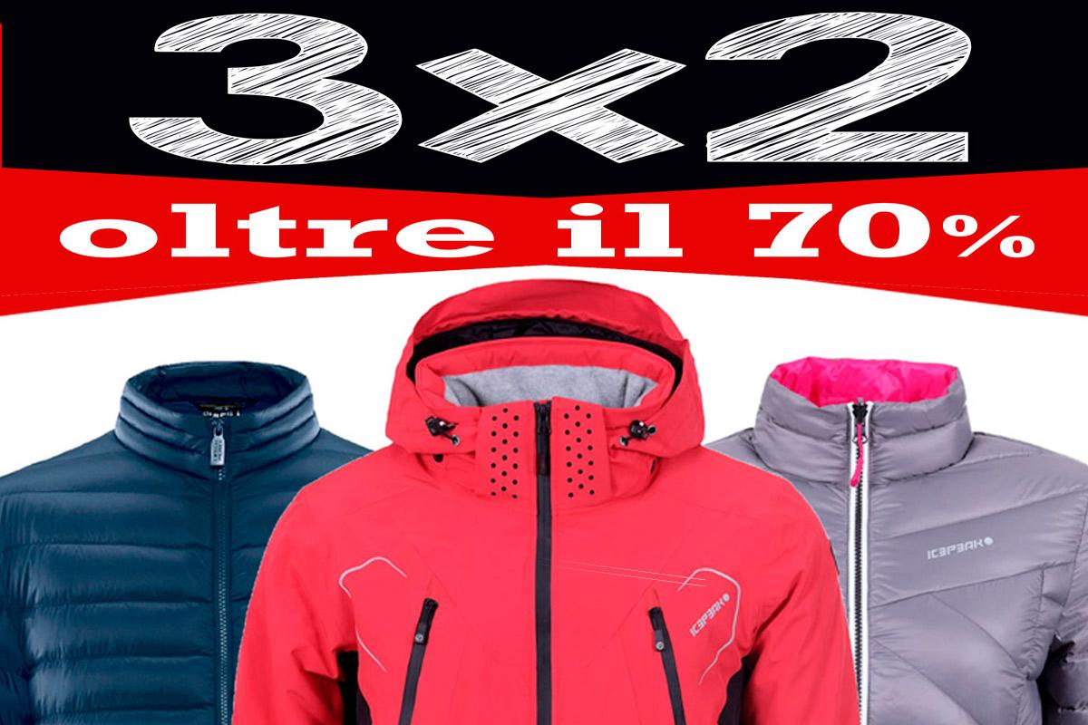 3X2 oltre il 70% su tutti i campionari inverno