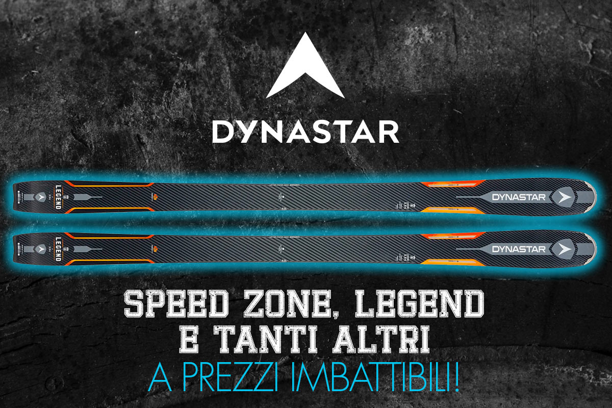 Dynastar Speed Zone, Legend e tanti altri scontati fino al 50%