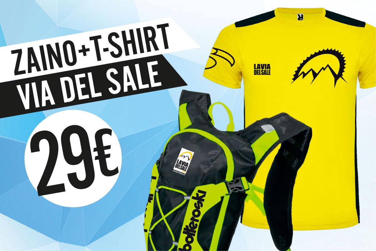 Kit zaino e maglia La Via del Sale in promozione