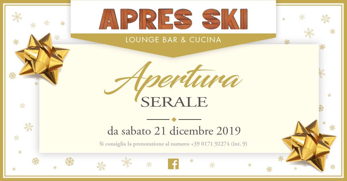 Apertura serale dell'Apres Ski dal 21 dicembre!