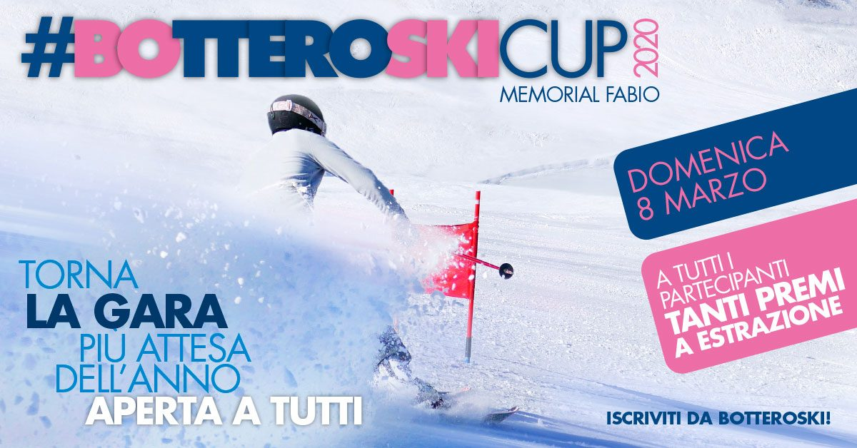 Bottero Ski Cup 2020: appuntamento l'8 marzo!