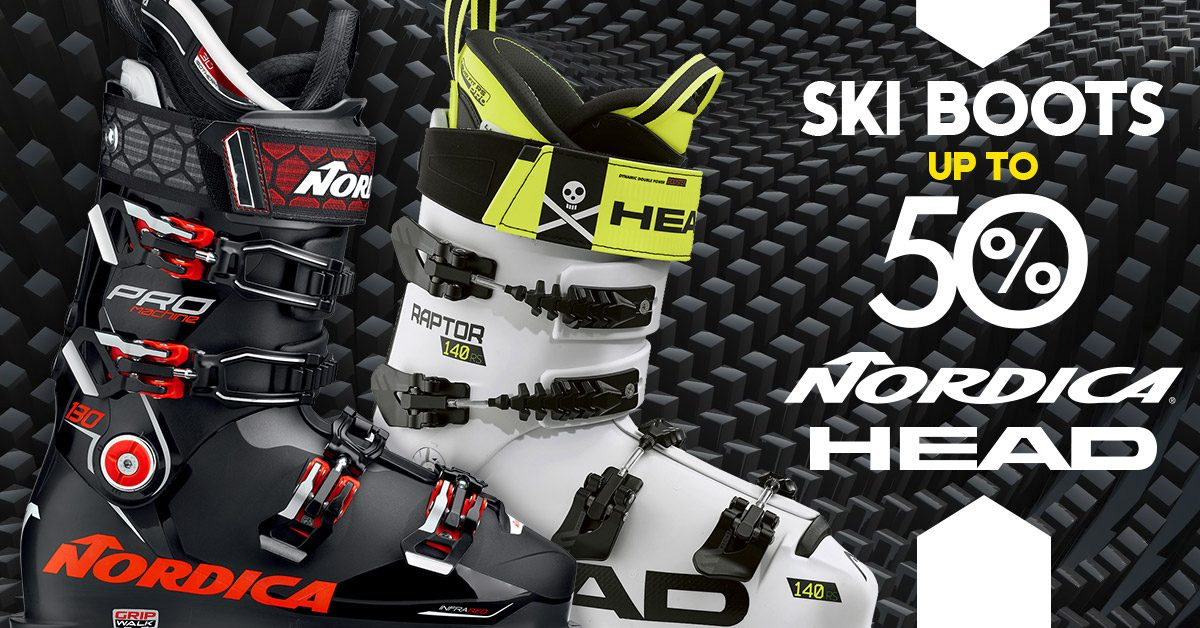 Ski boots: up to 50% – Nordica & Head